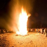 Bonfire, Ward's Island, Toronto Islands