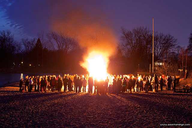 Equinox bonfire, Ward's Island, Toronto Islands
