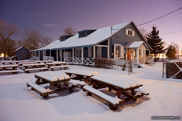 Moonlit WIA Clubhouse, Ward's Island, Toronto Islands