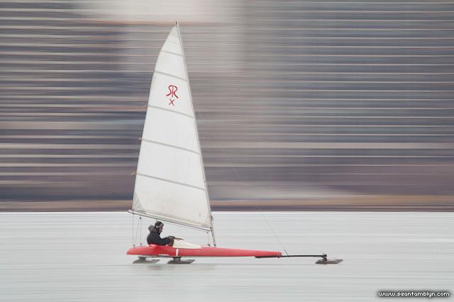 Ice Sailing, Inner Harbour, Toronto Islands