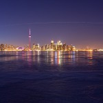 ISS and Discovery Over Toronto, Centre Island, Toronto Islands