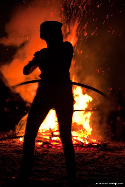 Fire performer, Ward's Island, Toronto Islands
