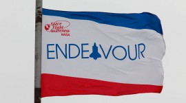 Endeavour Flag, Kennedy Space Centre, Florida
