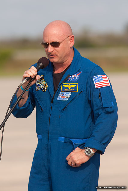 Mark Kelly, STS-134, Kennedy Space Centre, Florida