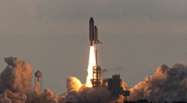 Endeavour clears the tower, STS-134, Kennedy Space Centre, Florida
