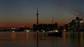 Toronto skyline 2003 blackout, Ward's Island, Toronto Islands