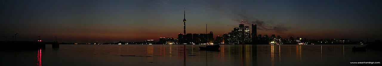 Toronto skyline 2003 blackout, Ward's Island, Toronto Islands