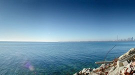 Christmas day panorama, Harbour Light, Tommy Thompson Park