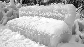 Ice covered bench, Centre Island, Toronto Islands