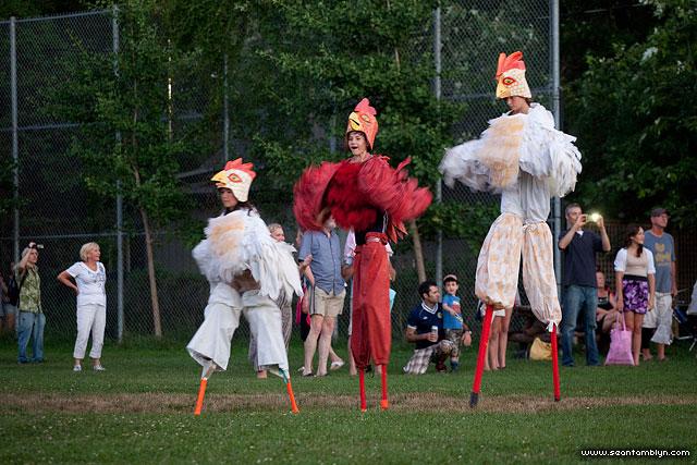 Shadowland's Chickens, Gala Weekend 2011, Ward's Island, Toronto Island