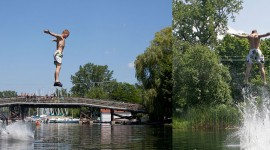 Dock Jumping, Gala Weekend 2011, Algonquin Island, Toronto Islands