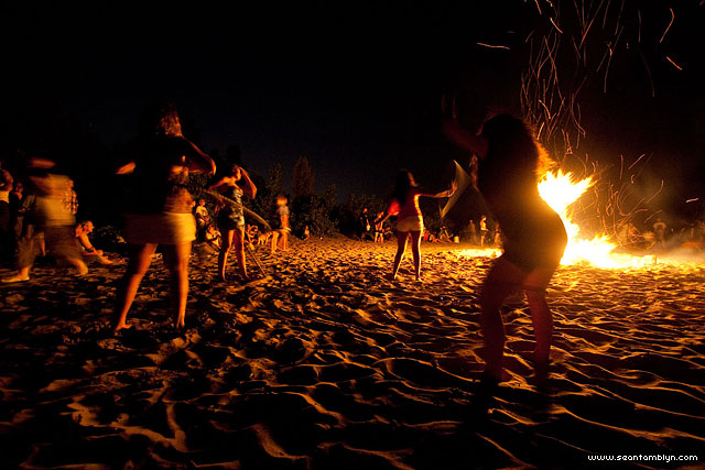 Bonfire Dancing, Gala Weekend 2011, Ward's Island, Toronto Islands