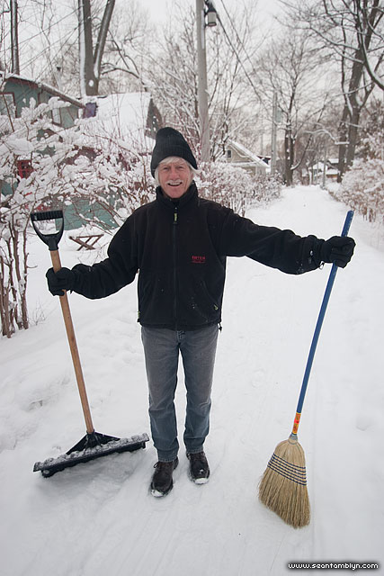 Jimmy Jones clears the street, Ward's Island, Toronto Islands