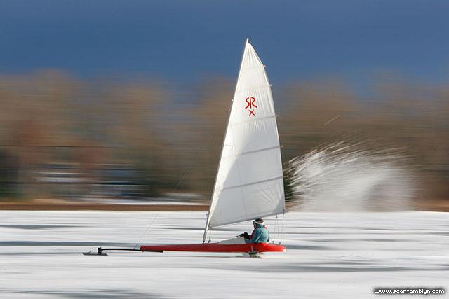 Hardwater sailing, Inner harbour, Toronto Islands
