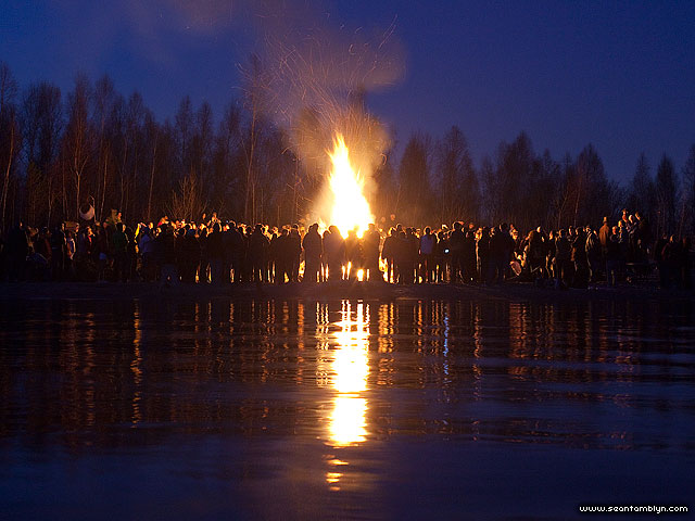 Equinox bonfire, Ward's Island, Toronto Islands