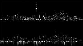 Earth Hour 2012 Toronto Skyline Luminosity Comparison, Centre Island, Toronto Islands