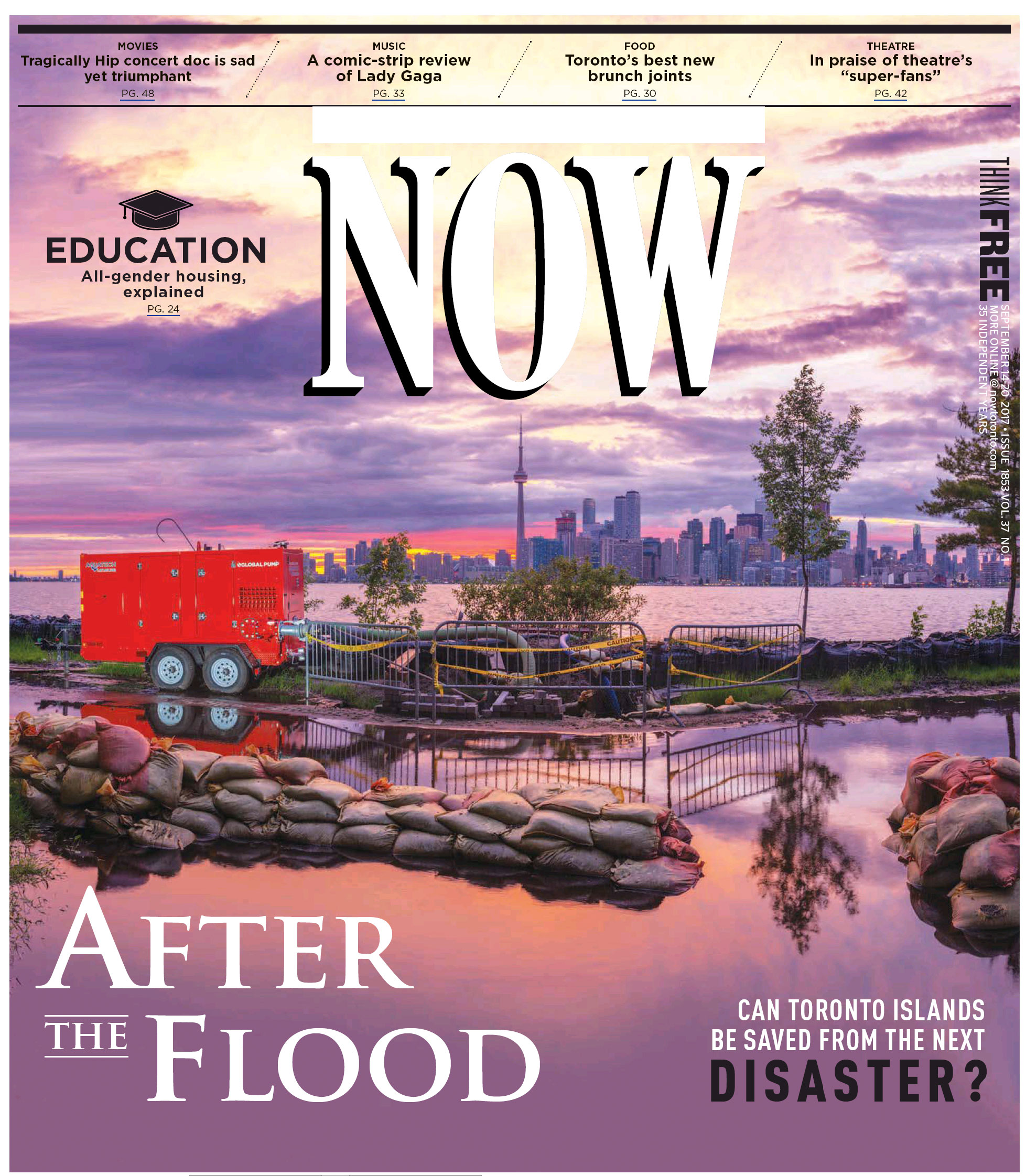 NOW Cover, After the Flood, September 14 2017