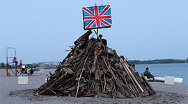 Artistic bonfire, Ward&#039;s Island, Toronto Islands
