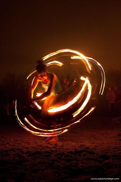 Maeve fire dancing, Ward's Island, Toronto Island