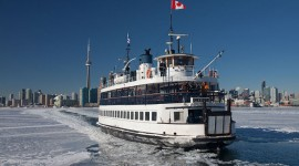 Ferry William Inglis in ice, Wards Island, Toronto Islands