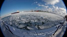 Freezing eastern gap, Ward's Island, Toronto Islands