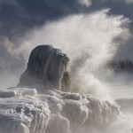 Ice sculpture formation, Ward's Island, Toronto Islands