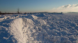 Ice covered beach, Ward's Island, Toronto Islands