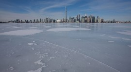Perfect skating ice, Inner Harbour, Toronto Islands