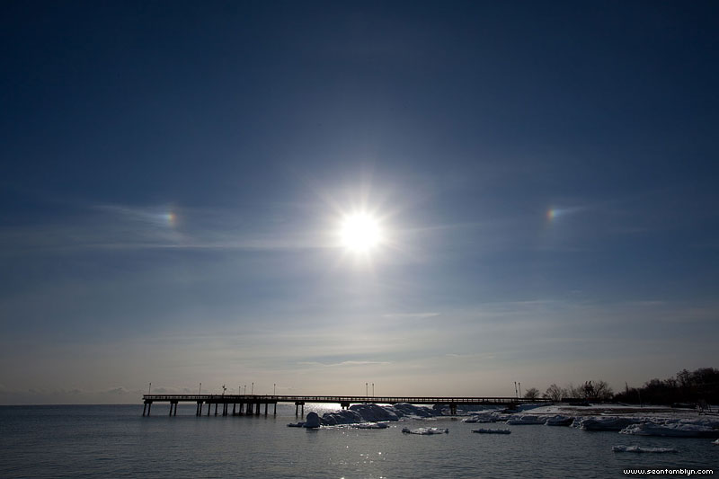 Sundogs over the pier, Centre Island, Toronto Islands