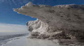 Ice formation, Ward's Island, Toronto Islands