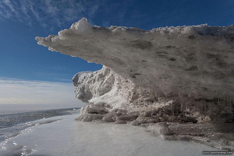 Ice formation, Ward's Island, Toronto Islands