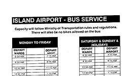 Island airport bus schedule, Feb 19 2015