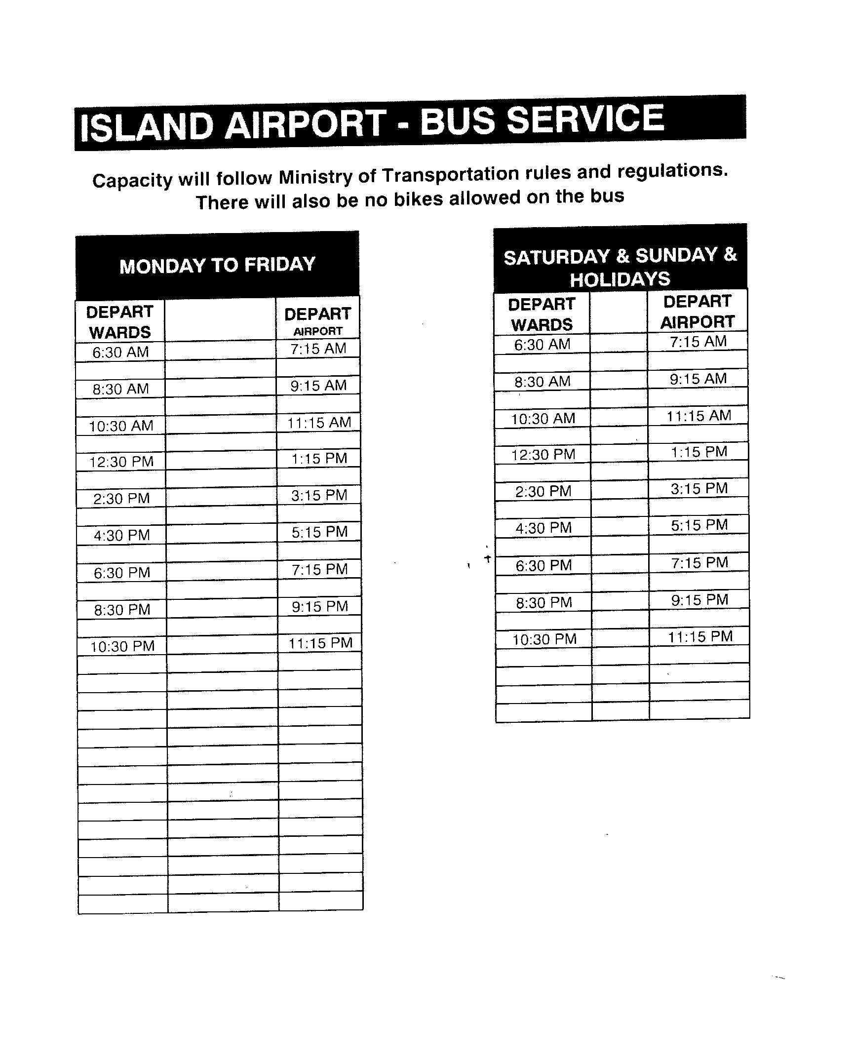 Island Airport Bus Service
