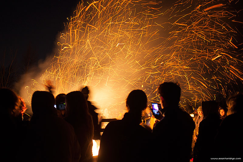 Equinox Bonfire 2015, Ward's Island, Toronto Islands