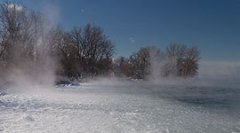 Pancake ice in the Cove, Ward's Island, Toronto Islands