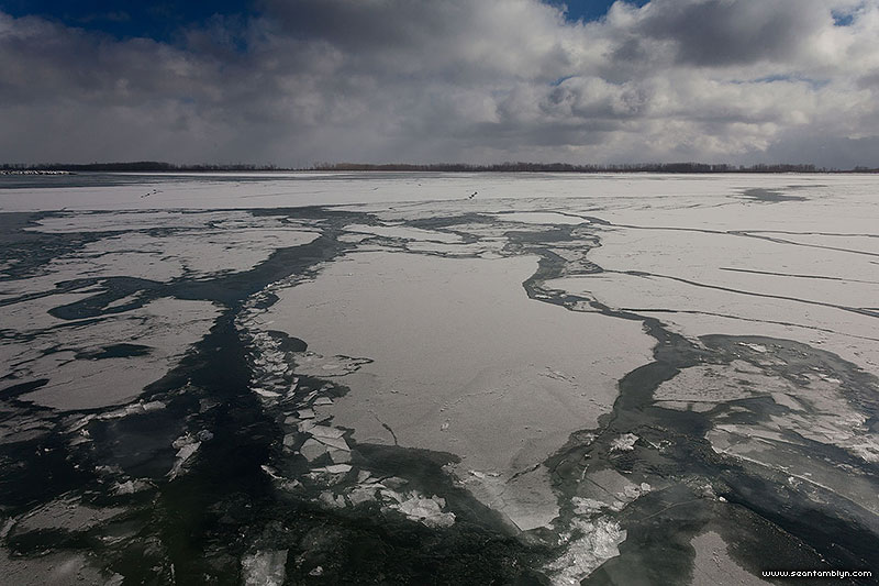 Forming ice, Outer Harbour, Toronto Islands