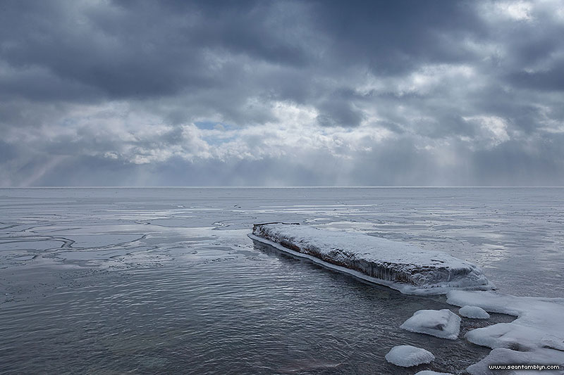 Breakwater covered in ice, Centre Island, Toronto Islands