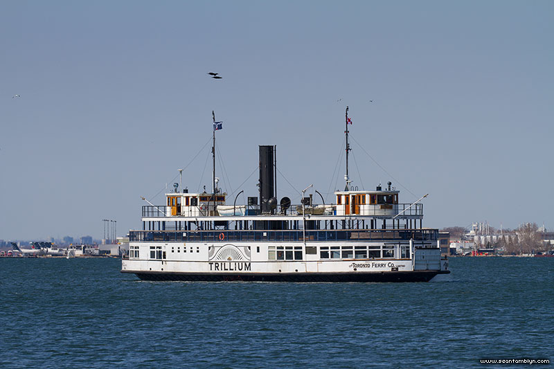 Toronto ferry Trillium, Inner Harbour, Toronto Islands