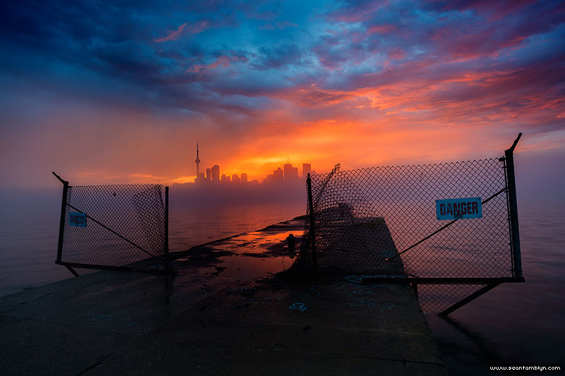 Epic sunset, Ward's Island, Toronto Islands