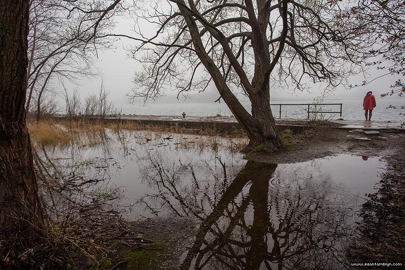 Flooded Eastern gap, Ward's Island, Toronto Islands