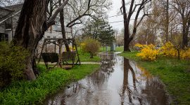 Flooded Bayview Ave, Ward's Island, Toronto Islands