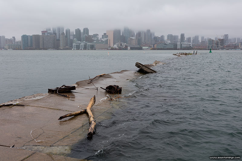 Sinking eastern gap, Ward's Island, Toronto Islands