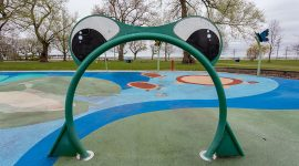 Dry splash pad, Center Island, Toronto Islands