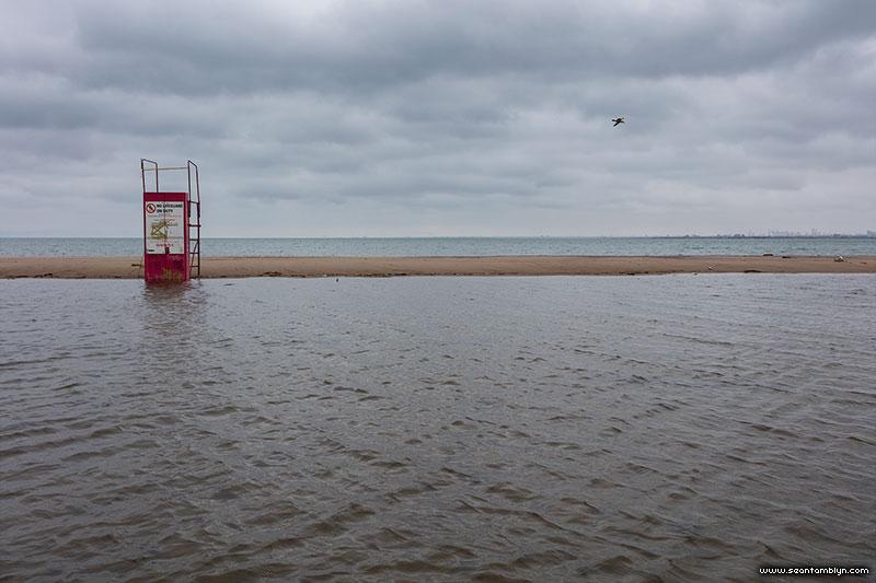 Flooded beach, Hanlan's Point, Toronto Islands