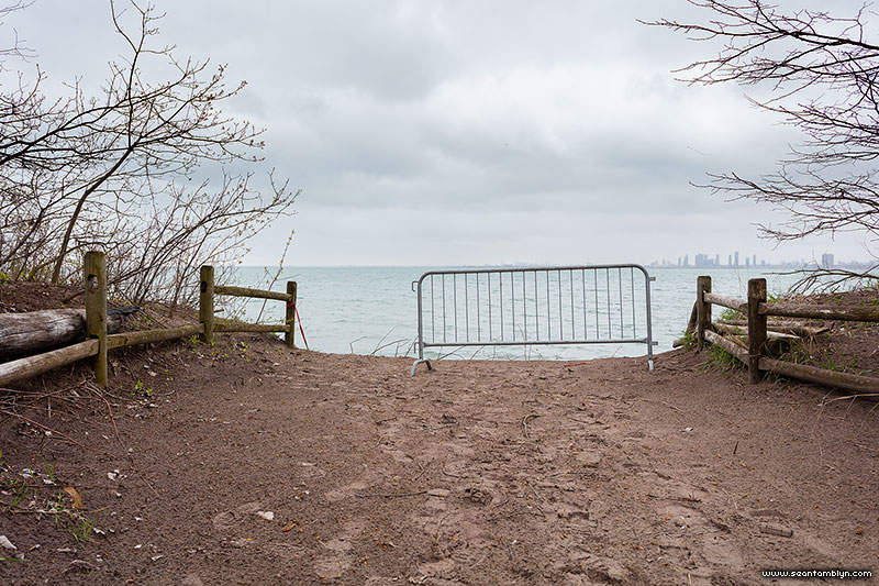 The trail ends in the lake, Gibraltar Point, Toronto Islands