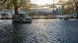 Flooded Minivan, Ward's Island, Toronto Islands