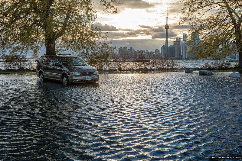 Flooded Minivan, Ward's Island, Toronto Islands