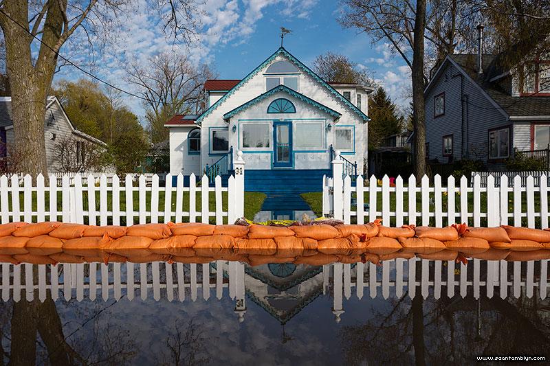 Flooded 31 Seneca Ave, Algonquin Island, Toronto Islands