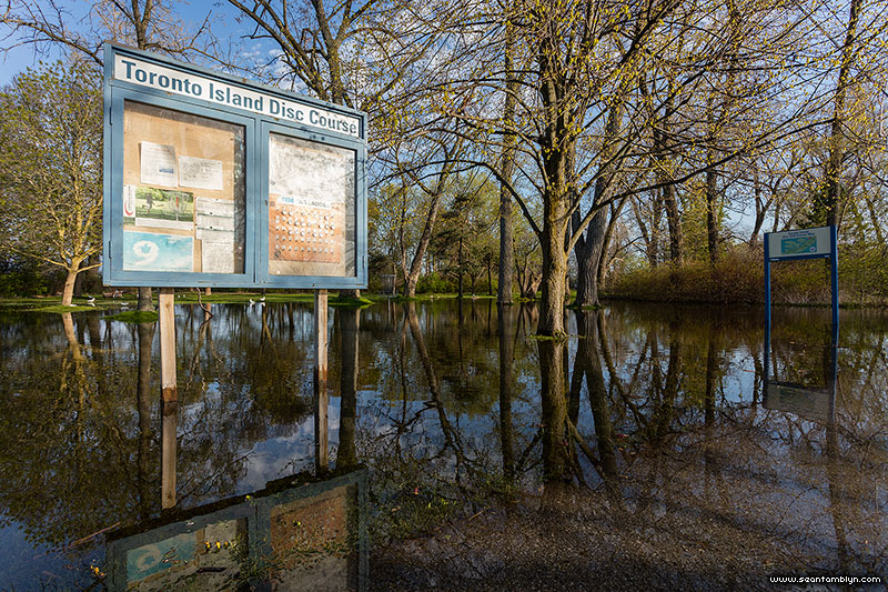 Flooded disc golf course, Toronto Islands