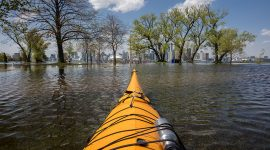 Kayaking over Olympic Island, Olympic Island, Toronto Islands